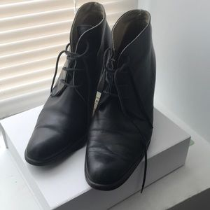 Shoes - Thrifted Vintage Black Ankle Boot